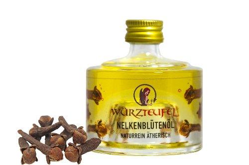 Nelkenblütenöl, Gewürznelkenöl, Nelkenöl. NATURREIN, ÄTHERISCH. Spitzenqualität aus Indonesien. Glasflasche 40 ml.