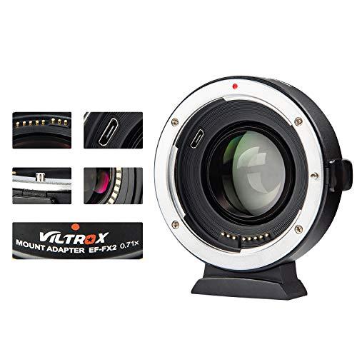 Viltrox EF-FX2 0,71 x Autofokus Fokusreduzierer Booster Objektiv Adapter für Canon EF Mount Lens to Fujifilm X-Mount Mirrorless Cameras X-T3/X-T100/X-PRO2/X-E3/X-A20/X-A10