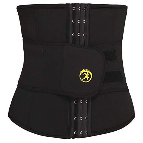 YiXing Entrenador de cintura para hombre, de neopreno, para modelar, modelar, cinturón para pérdida de peso, corsé de entrenamiento para gimnasio, faja (color: negro clásico, tamaño: XL)