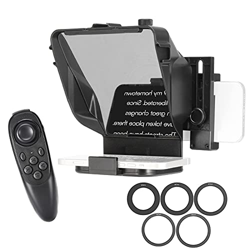 Teleprompter para Youtube Tiktok Video Live Streaming, iPad, para entrevista al Aire Libre, Habla, DSLR (Color : For Camera+Phone~Without Stand)