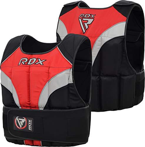 RDX Gym Chaleco Lastrado De 20 KG Weighted Vest Pesas Entrenamiento para Ajustable Chalecos Correr y Perder Peso Fitness Ejercicio