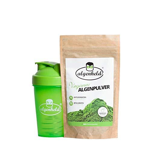 Algenheld Algen Starterset: Spirulina poeder 150 g plus shaker