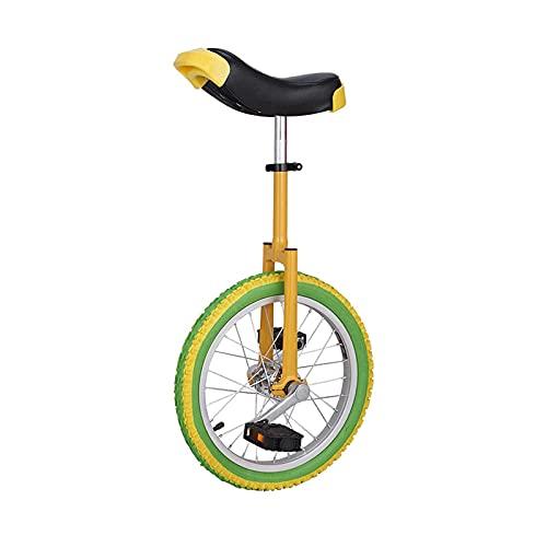 aedouqhr Monociclo de 16/18/20 Pulgadas para Adultos/niños/Adolescentes, neumático de montaña Antideslizante, Bicicletas de Equilibrio de Ejercicio de autoequilibrio de Ciclismo, Marco de Acero,