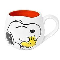 マグカップ スヌーピー フェイス マグ シンプル コップ SNOOPY マグカップ かわいい 誕生日 引っ越し祝い コップ 300ml 陶器 ダイカット (SPY-770)