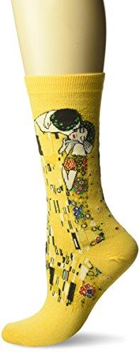 Hot Sox Klimt's The Kiss Yellow Socken Crew