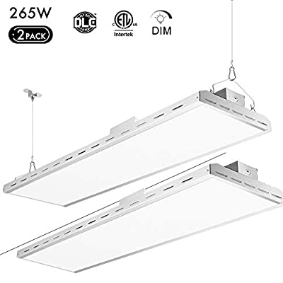 Lightdot 4FT 265W LED high Bay Shop Light for Warehouse Industry Workshop barn 1-10v Dim 5000K 1000W HID Replacement