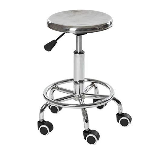 JBD Barhocker Schönheitsstuhl Stuhl Barhocker - Metall hebbarer drehbarer Hochhocker Stuhl Home Front Desk Chair Hocker Bistrostuhl