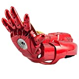 DEMO Wearable Electric Arm Water Guns Avengers Iron Man Right Hand Arm Action Figures MK42 Gloves Cosplay Props Kids Water Polo Shooting Toy Gifts,Red