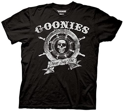 Ripple Junction The Goonies Captain's Wheel Adult T-Shirt XL Black