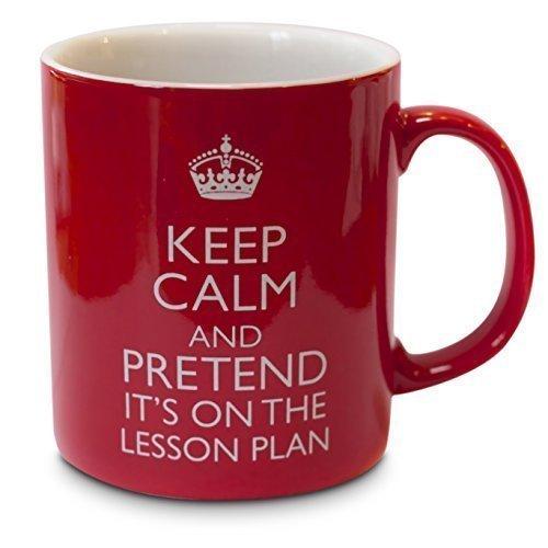 verytea Becher/Tasse Fun für Lehrer, Keep Calm and Pretend It's on The Plan Lesson