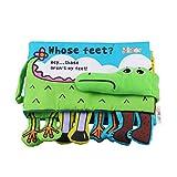 STOBOK BabyStoffbuchSpielbuch Badebücher Babybuch Knisterbuch KuschelbuchStoffspielzeug Kleinkindspielzeug - Krokodilfuß