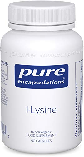 Pure Encapsulations - L-Lysine 500mg - Hypoallergenic Essential Amino Acid Supplement - 90 Vegetarian Capsules