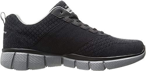 Skechers Men's Equalizer 2.0 True Balance Sneaker,Black/Charcoal,11 4E US