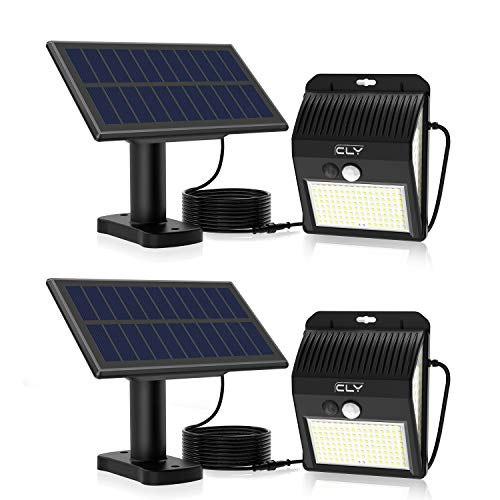 CLY Luces Solares LED Exterior Impermeable,Lámparas