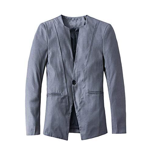 Roiper Automne Hiver Casual Décontracté Slim à Manches Longues Costume Veste Trench-Coat Blouse