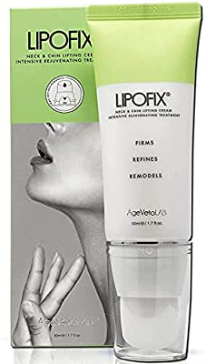 Neck Firming Double Chin Tightening Intensive Rejuvenating Cream Tones and Firms Sagging Skin Anti-Aging. LIPOFIX… from Medactiveusa