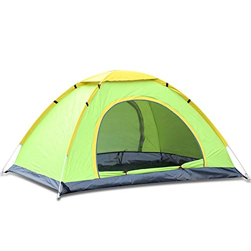 Outdoor Camping Tent Open Tent 3-4 Person Family Automatic Outdoor Double Camping Rainproof Sunscreen Beach Tent Set Easy to Build a Tent by Yourself (Color : Green, Size : 1-2people)