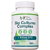 Premium Bio Cultures Complex 180 Capsules (6 Month's Supply) | High Strength Probiotic | Vegetarian Multi Strain Probiotic | Lactobacillus Acidophilus & Bifidobacterium |Quality Probiotic Cultures |