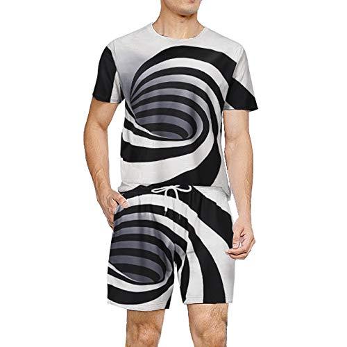 Camisetas con Estampado 3D para Hombre Pantalones Cortos de Manga Corta y de Natación Bañadores Pantalones Cortos de Playa de Verano Pantalones Cortos(Blanco,XXL)
