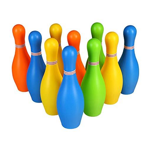 Bowling Spielzeug Kleine Kunststoff-Bowlingkugel Spielzeug Unterhaltung Innen-Mini-Spiel Mit 10 Pins Und Zwei Kugeln Spielzeug Großes Geschenk For Babys Und Mädchen Kinderbekleidung Kinder Erwachsene