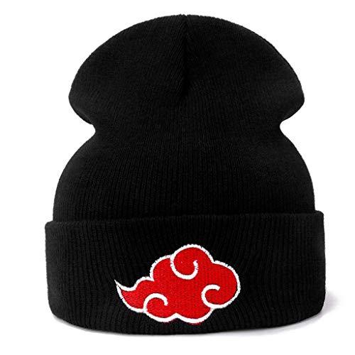 SHYPT Lässige Mützen für Männer Frauen Gestrickte Wintermütze Unifarbene Mütze Unisex Cap (Color : Black)