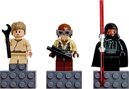 LEGO Star Wars Anakin Skywalker, Darth Maul, Naboo Fighter Pilot Magnet Figuren Set: Anno 2007