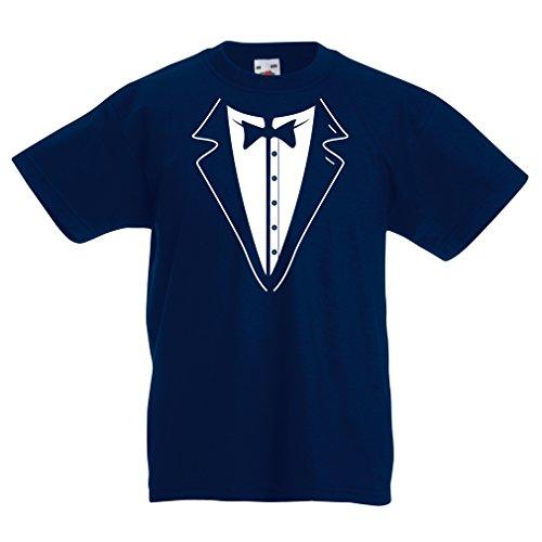 N4590K La Camiseta de los niños Gran Jefe (12-13 Years Azul Oscuro Multicolor)