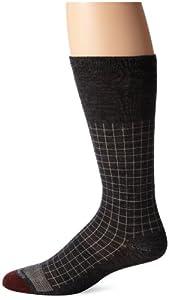 Allen Edmonds Men's Merino Wool Blend Mid Calf Socks, Charcoal, Medium