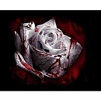 5DDIYダイヤモンドペインティングブラッドローズフルドリルダイヤモンド刺繍クロスステッチモザイククラフトキット家の装飾ハロウィンギフト