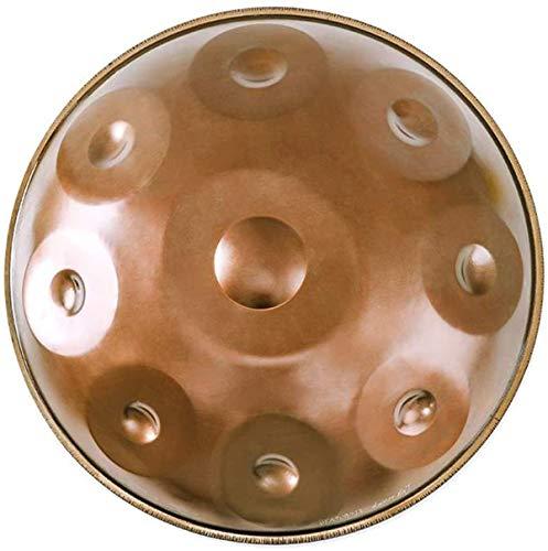 Tambores Handpan en D Minor 9 Notas Tambor de Acero, 22inch / 56cm armónica percusión for Sound Healing, 9 Notas D3 A BB C D E F G A, con Mano Suave Pan Bolsa,Tongue Drum