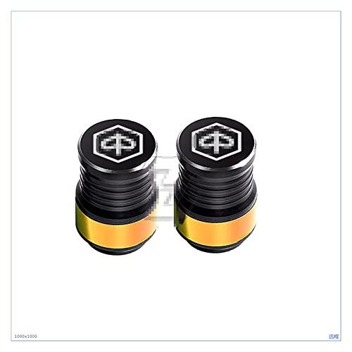 GUANGGUANG Heartwarming Shop Ajuste para Piaggio Vespa MP3 con Cremallera PX X8 X9 Sprint Primavera GTS MOTORCO CIENTA VÁLVULA TAPULA Capa CNC CNC (Color : Gold)