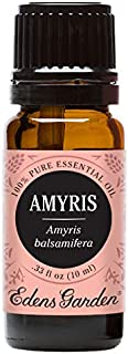 Edens Garden Amyris Essential Oil, 100% Pure Therapeutic Grade (Highest Quality Aromatherapy Oils- Anxiety & Stress), 10 ml