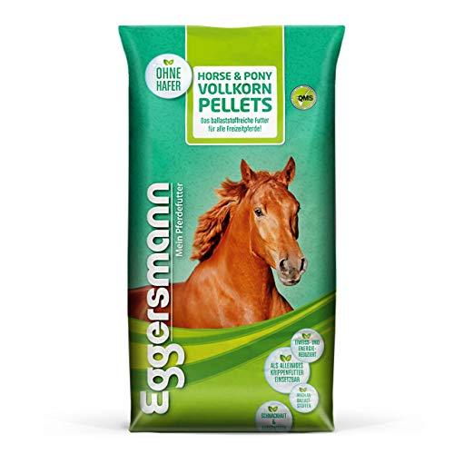 Eggersmann Horse & Pony Vollkorn Pellets 6 mm – Pferdefutter ohne Hafer – Eiweiß- und energiereduziert – 25 kg Sack