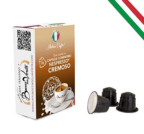 BOCCA DELLA VERITA Café Italiano - 6 Estuches de 10 Cápsulas c/u - Sabor CREMOSO, Compatible con Cafetera Nespresso, 100% Made in Italy