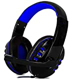 Headset Gamer com Microfone Estéreo P2 para Pc Notebook Mac Ps4 Ps5 Xbox One Series X e S (Azul)