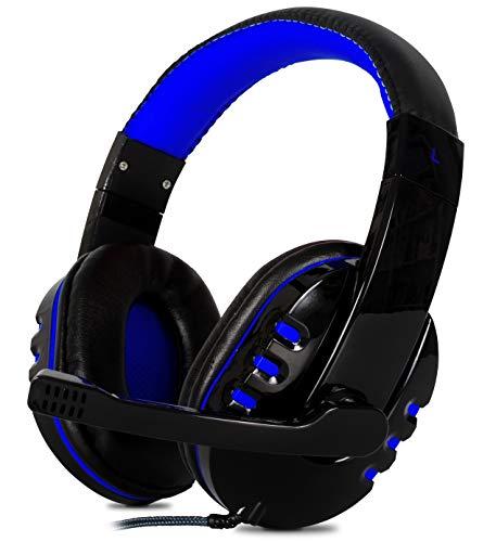 Headset Gamer com Microfone Estéreo P2 para Pc Notebook Mac Ps4 Ps5 Xbox One Series X e S (Azul)