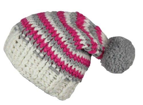 Ultrapower RED HOT Wintermütze bunt Damen & Herren | Pudelmütze warm für Teenager Mädchen Jungen | Plümmelmütze Winter | Bommelmütze farbig | Mütze mit Bommel | Ski | Snowboard | Magenta | Osby