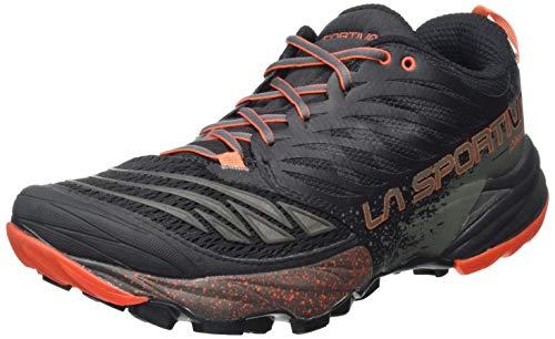 La Sportiva Akasha, Zapatillas de Trail Running Hombre, Multicolor (Black/Tangerine 000), 42 EU
