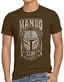 A.N.T. Mando Camiseta para Hombre T-Shirt Baby Yoda Bounty Hunter, Talla:M, Color:Marrón
