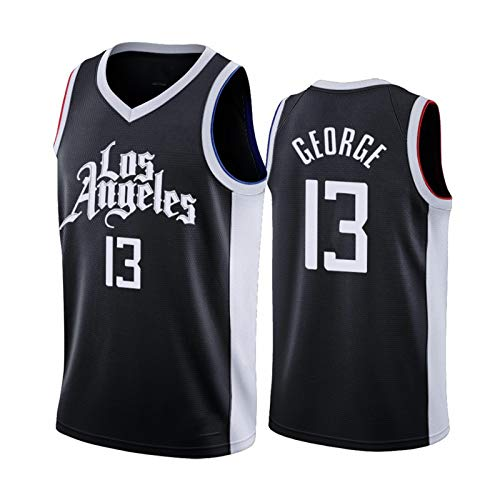 DWQ Jersey de Baloncesto para Hombre, Clippers # 13 George City Edition Basketball Jersey, Ropa Deportiva sin Mangas Unisex (S-XXL) M