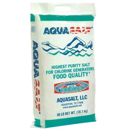AQUASALT Swimming Pool and Spa Chlorine Generator Salt - 40 lb Bag