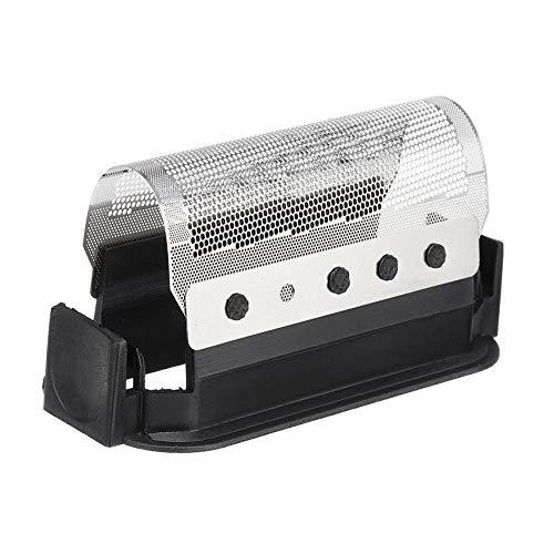 Knowled Cabezal de repuesto y pantalla de aluminio para afeitadora Braun 428 (micras 2000), cabezal de cuchilla de afeitar eléctrica para Braun 428 Micron 2000 2111 2115 2525 5422