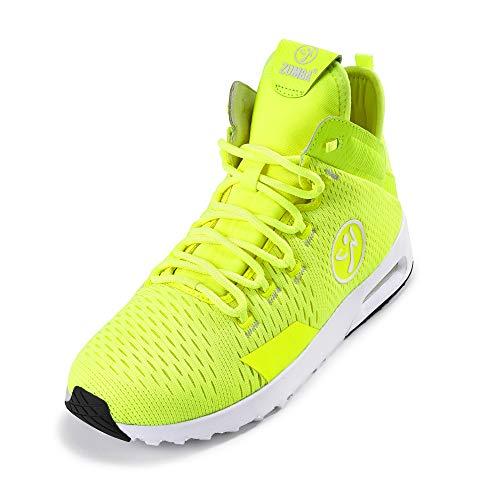 Zumba Air Classic Remix Sportliche High Top Tanzschuhe Damen Fitness Workout Sneakers, Caution, 40.5 EU