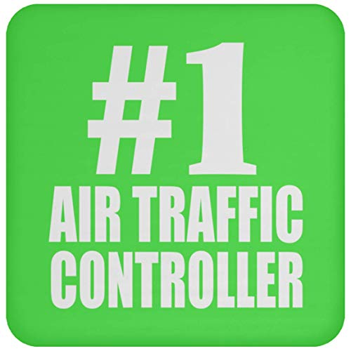Number One #1 Air Traffic Controller - Drink Coaster Kelly Untersetzer Rutschfest Rückseite aus Kork - Geschenk zum Geburtstag Jahrestag Muttertag Vatertag