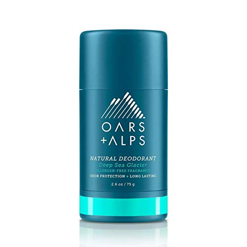 Oars + Alps Natural Deodorant for Men and Women, Aluminum Free and Alcohol Free, Vegan and Gluten Free, Deep Sea Glacier, 1 Pack