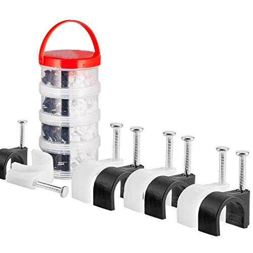MutecPower 6mm 7mm 8mm 100m Abrazaderas para Cables con Tornillo Incorporado en Negro y Blanco - 400 Pack