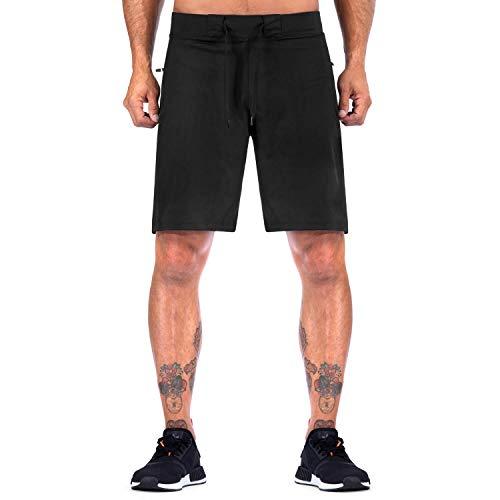 Elite Sports Crossfit Training Shorts for Men (Medium) Black