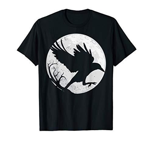 Dunkles Raben-Silhouette-Geschenk-T-Shirt für Krähenraben-Fa