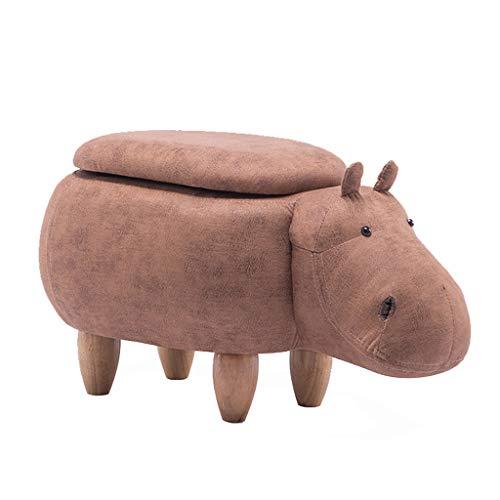 Cs Tissu Art Chaise Enfant Bois Massif canapé Tabouret Chaussure Banc de Changement (Size : Hippo Storage Box)
