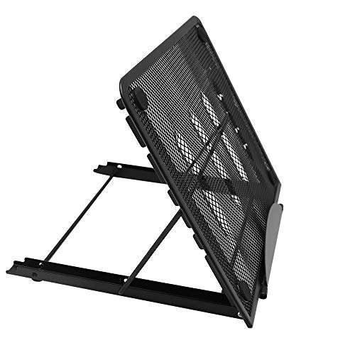 UOIENRT Laptop Stand Adjustable Portable Laptop Holder Portable Stand for Desk Mesh Metal Ventilated Notebook Riser for MacBook Air Pro, Dell XPS, More 10-17 inches PC Computer, Tablet, iPad